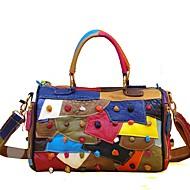 preiswerte Taschen-Damen Taschen Leder Tragetasche Gestuft Geometrisch Regenbogen