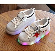 Para Meninas sapatos Couro Ecológico Outono Inverno Conforto Tênis Para Casual Preto Vermelho Verde