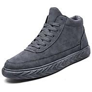 Masculino sapatos Micofibra Sintética PU Outono Inverno Conforto Tênis Cadarço Para Preto Cinzento Khaki