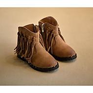 Para Meninas sapatos Pele Nobuck Outono Inverno Conforto Botas de Neve Botas Para Casual Preto Khaki