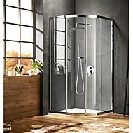 tanie Baterie prysznicowe-Comtemporary Budowa prysznica Deszczownica Zawór ceramiczny Jeden otwór Chrom, Bateria Prysznicowa