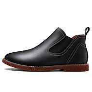 cheap Men's Boots-Men's Combat Boots Leather Fall / Winter Boots Black / Light Brown