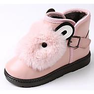 女の子 靴 PUレザー 秋 冬 スノーブーツ ブーツ 用途 カジュアル ブラック グレー レッド ピンク