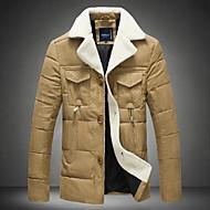 Pánské Krátké S vycpávkou Jednoduché Jdeme ven Běžné/Denní Jednobarevné-Kabát Polyester Jiné Polypropylen Dlouhý rukáv