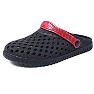 baratos Sapatos Masculinos-Homens Couro Ecológico Verão Conforto Tamancos e Mules Preto / Cinzento / Azul