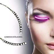 halpa -1 paria valoisa vedenpitävä silmäripsi nauhat kevyt fake silmäripset hehkua osapuoli puku tarvikkeet