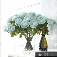 2 Afdeling Polyester Kamelia Bordblomst Kunstige blomster