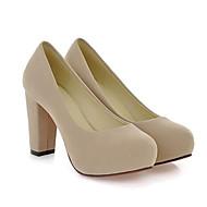 Žene Cipele Nubuk koža Proljeće / Jesen Udobne cipele Cipele na petu Kockasta potpetica za Crvena / Zelen / Badem