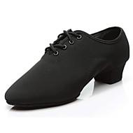 billige Jazz-sko-Herre Jazz-sko Oxford Joggesko / Splitt såle Tykk hæl Kan spesialtilpasses Dansesko Svart / Innendørs