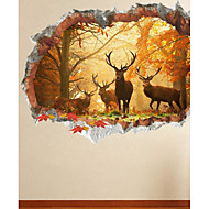 Animals Wall Stickers Plane Wall Stickers Decorative Wall Stickers 3D,Paper Material Home Decoration Wall Decal