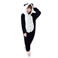 Pijamas Kigurumi Panda Pijamas Macacão Ocasiões Especiais Lã Polar Preto/Branco Cosplay Para Adulto Pijamas Animais desenho animado Dia