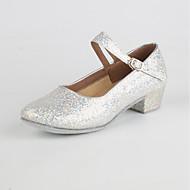"""billige Moderne sko-Dame Moderne Paljett Innendørs Lav hæl Gull Sølv Rød 1 """"- 1 3/4"""" Kan spesialtilpasses"""