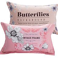 Komfortabel Pudebetræk Binding Blomstret Reaktivt Print