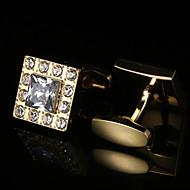 billige Tilbehør til herrer-Geometrisk Form Gylden Mansjettknapper Mønster Herre Kostyme smykker Til