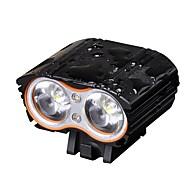 Frontlys til sykkel LED XM-L2 T6 Sykling Profesjonell LED Lys Lithium Batteri Lumens Hvit Camping/Vandring/Grotte Udforskning Dagligdags