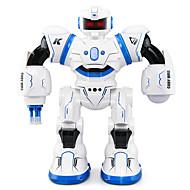 hesapli Robotlar, Canavarlar ve Uzay Oyuncakları-RC Robotu JJRC R3 Yurtiçi ve Kişisel Robotlar Akıllı Robot Robot 2.4G ABS şan Yürüyüş konuşma Ekstra Uzun Bekleme Süresi Çok-fonksiyonlu