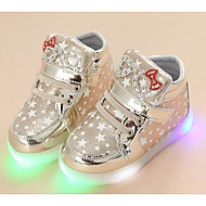 Girls' Shoes PU Winter Fall Comfort Sneakers for Casual Gold Silver Pink