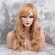 Vrouw Human Hair Capless Pruiken Zwart Honey Blonde Lang Golvend Zijdeel