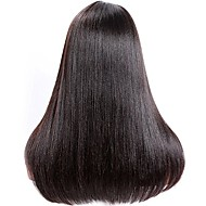 Women Human Hair Lace Wig Brazilian Remy Glueless Lace Front 180% 150% 130% Density With Baby Hair Straight Yaki Wig Medium Brown Dark