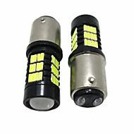 2pcsユニバーサルスタイル27w 2200lm 1157缶バスブレーキ電球1157 6000k LEDターンシグナルライト白色