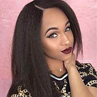 Aidot hiukset Käsittelemätön aitoa hiusta Lace Front Peruukki tyyli Brasilialainen Suora Yaki Peruukki 130% Hiusten tiheys 8-30 inch ja vauvan hiukset jalostamattomia liimattoman Naisten Pitkä