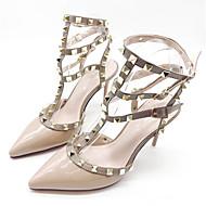 Mulheres Sapatos Couro Envernizado Primavera / Verão Conforto Saltos Fúcsia / Vermelho / Rosa claro / Festas & Noite / Festas & Noite