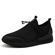 お買い得  メンズ アスレチックシューズ-メンズ 靴 秋 ライト付きソール ウォーキング のために カジュアル ブラック ブラック/レッド