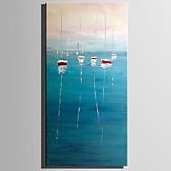billiga Landskapsmålningar-Hang målad oljemålning HANDMÅLAD - Landskap Rustik Moderna Duk