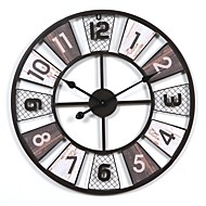 Classic Theme Houses Music Places Others Abstract Friends Bohemian Theme Vintage Theme Wall Clock,Round Indoor Clock
