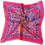 Γυναικεία Γεωμετρικό Μετάξι Στάμπα - Τετράγωνο