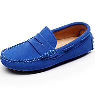 tanie Obuwie chłopięce-Dla chłopców Obuwie Skóra Wiosna / Lato Lekkie podeszwy Mokasyny i buty wsuwane na Szary / Brązowy / Królewski błękit
