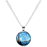Men's Women's Pendant Necklace - Asian, Simple, Cartoon Lovely Silver, Bronze Necklace Jewelry One-piece Suit For Carnival, Office & Career