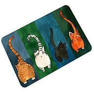 お買い得  マット&ラグ-創造的な漫画の猫のパターン滑り止めフロアマット