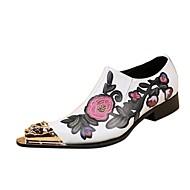 Недорогие -Для мужчин обувь Натуральная кожа Зима Осень Оригинальная обувь Формальная обувь Туфли на шнуровке для Свадьба Для вечеринки / ужина
