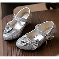 tanie Obuwie dziewczęce-Dla dziewczynek Buty Dżety Jesień Zima Buty dla małych druhen Szpilki na Casual Gold Silver Różowy