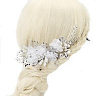 Chiffon / Crystal / Imitation Pearl Hair Combs with 1pc Wedding / Special Occasion Headpiece