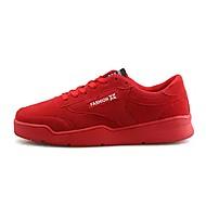 Masculino sapatos Pele Nobuck Primavera Outono Conforto Tênis Para Casual Preto Cinzento Vermelho