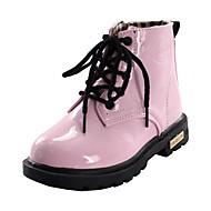 tanie Obuwie dziewczęce-Dla dziewczynek Buty Derma Zima Jesień Modne obuwie Śniegowce Comfort Buciki Szurowane Zamek na Casual Na wolnym powietrzu Różowy