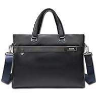 Men Bags Cowhide Briefcase Zipper for Wear to work Office & Career All Season Black