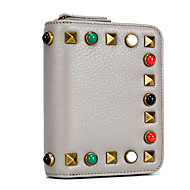 Women Bags Cowhide Coin Purse Appliques Crystal Detailing for Formal Office & Career All Season Green Black Gray