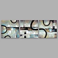 halpa -Maalattu Abstrakti Moderni 3 paneeli Kanvas Hang-Painted öljymaalaus For Kodinsisustus