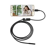 jingleszcn 7mm impermeável usb endoscopio camera android 3.5m hard cable inspection borescope snake cam pc windows