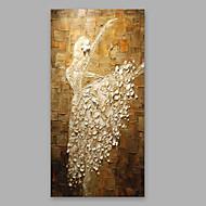 מצויר ביד אנשים אנכי,מודרני פנל אחד בד ציור שמן צבוע-Hang For קישוט הבית