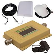 mini intelligent LCD-skjerm cdma980 850mhz mobiltelefon signal booster repeater med utendørs panel antenne / innendørs tak antenne gul