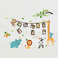billiga Väggklistermärken-Djur Mode Tecknat Väggklistermärken Väggstickers Flygplan Dekrativa Väggstickers Fotostickers, Vinyl Hem-dekoration vägg~~POS=TRUNC Vägg