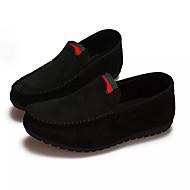 メンズ 靴 スエード 春 秋 コンフォートシューズ 下駄とミュール のために カジュアル ブラック グレー Brown