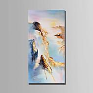 billiga Landskapsmålningar-Hang målad oljemålning HANDMÅLAD - Landskap Abstrakt Duk