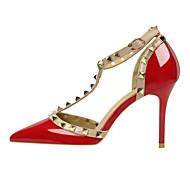 abordables Talons pour Femme-Femme Chaussures Tissu Polyuréthane Toute Saison Confort Nouveauté Chaussures à Talons Bout pointu Bottes Mi-mollet Rivet Boucle Pour
