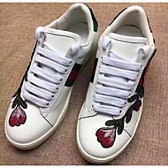 נשים נעליים עור אביב סתיו נוחות נעלי ספורט עבור קזו'אל לבן