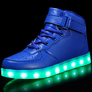cheap Boys' Shoes-Boys' Shoes Customized Materials Patent Leather Winter Fall Light Up Shoes Comfort Sneakers Hook & Loop LED Lace-up for Casual Outdoor